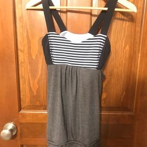 Lulu Lemon Light Blue and Black Tank